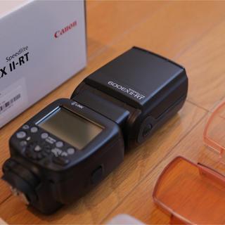 キヤノン(Canon)の【美品】CANON 600EXII-RT スピードライト(ストロボ/照明)