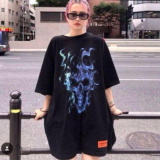 バレンシアガ(Balenciaga)のheron preston skull tee(Tシャツ/カットソー(半袖/袖なし))