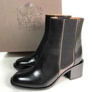 サルトル(SARTORE)の36 SARTORE サイドゴア ショートブーツ 黒 スクエア 23 サルトル(ブーツ)