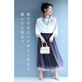 カワイイ(cawaii)のcawaii 刺繍 ブラウス トップス(シャツ/ブラウス(半袖/袖なし))
