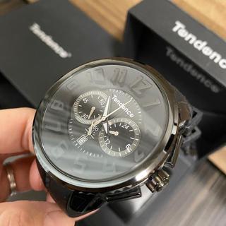 テンデンス(Tendence)の【超美品】テンデンス腕時計♡GULLIVER ブラック(腕時計(アナログ))