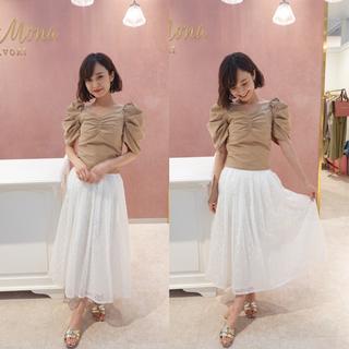 シェリーモナ(Cherie Mona)のシェリーモナ フラワー刺繍スカート(ロングスカート)