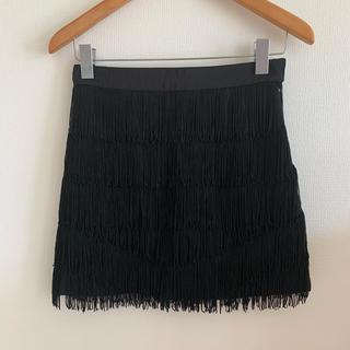 スライ(SLY)のSLY フリンジスカート skirt  セクシー ミニスカート スライ M(ミニスカート)
