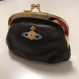 ヴィヴィアンウエストウッド(Vivienne Westwood)のVivienne Westwood コインケース 財布 がま口 ブラウン レザー(コインケース)