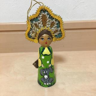 ミナペルホネン(mina perhonen)のロシア 土産 ハンドメイド 人形 マトリョーシカ 民芸 民族 東欧 北欧 雑貨(置物)