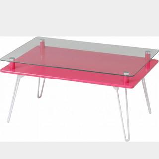 3色展開 ガラステーブル/ディスプレイテーブル/ローテーブル 幅70cm(ローテーブル)