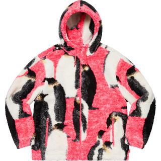 シュプリーム(Supreme)のL Supreme Penguins Hooded Fleece Jacket(ブルゾン)