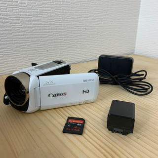 キヤノン(Canon)のキヤノン ビデオカメラ iVIS HF R52 IVISHFR52WH ホワイト(ビデオカメラ)