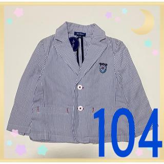 マザウェイズ(motherways)の❷新品 マザウェイズ フォーマル 男の子 104 スーツ ジャケット マリン(ドレス/フォーマル)