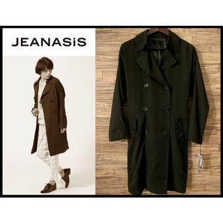 ジーナシス(JEANASIS)の新品 ジーナシス オーバーサイズ ルーズ トレンチ コート 黒 FREE(トレンチコート)