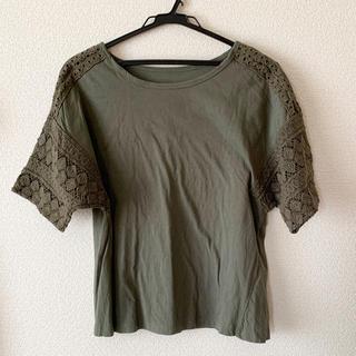 使用済み レディース カーキ Tシャツ(Tシャツ(半袖/袖なし))