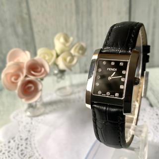 フェンディ(FENDI)の【動作OK】FENDI フェンディ 腕時計 7000L ブラック 12P(腕時計)