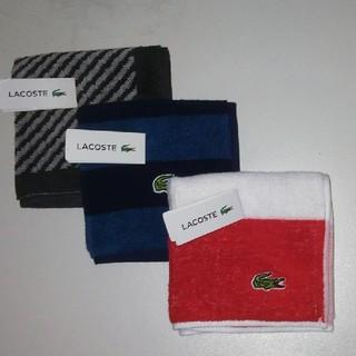 ラコステ(LACOSTE)の新品 ラコステ タオルハンカチ 3枚(ハンカチ/ポケットチーフ)