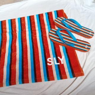スライ(SLY)の新品 SLY ノベルティビーチサンダルタオル(ビーチサンダル)