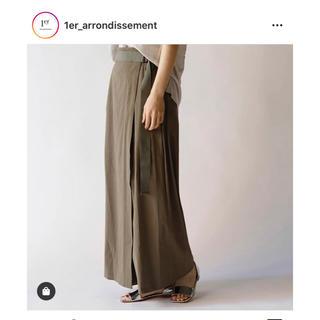 アパルトモンドゥーズィエムクラス(L'Appartement DEUXIEME CLASSE)の1er-arrondissement 新品未使用 リネン混ラップパンツ(カジュアルパンツ)