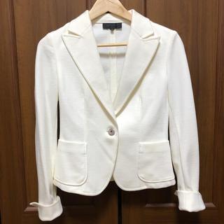 アンタイトル(UNTITLED)の新品 アンタイトル  テーラードジャケット 白(テーラードジャケット)