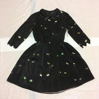 ミルク(MILK)のMILK Black Cat dress ミルク キャット ワンピース ワンピ(ひざ丈ワンピース)