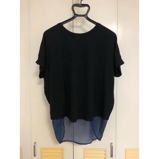 ジーナシス(JEANASIS)のJEANASIS トップス ブラック×ネイビー サイズFREE(Tシャツ(半袖/袖なし))