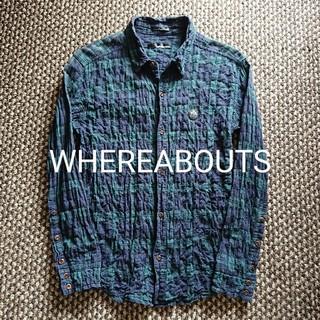 ウェアラバウツ(WHEREABOUTS)のWHEREABOUTS シワ加工ブラックウォッチ ストレッチネルシャツ ワッペン(シャツ)