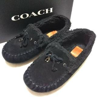コーチ(COACH)のCOACH 超美品  36  ムートン  モカシンブーツ(スリッポン/モカシン)