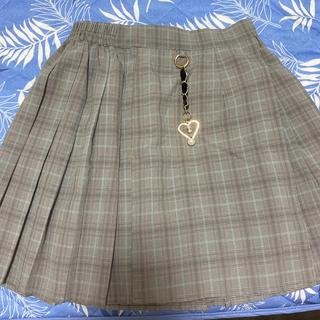 ロジータ(ROJITA)の美品 ロジータ チャーム付 プリーツスカート チェック スカート(ミニスカート)