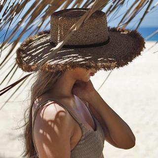 ルームサンマルロクコンテンポラリー(room306 CONTEMPORARY)のroom306 Summer Wide Boater Hat 麦わら帽子 モカ(麦わら帽子/ストローハット)