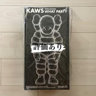 メディコムトイ(MEDICOM TOY)の新品未開封★kaws what party ブラック(その他)