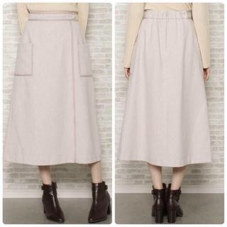 ウィルセレクション(WILLSELECTION)のウィルセレクション 今期🌸新作 配色ステッチAラインロングスカート (ロングスカート)