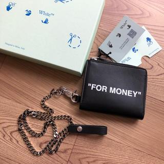 オフホワイト(OFF-WHITE)の新品 OFF WHITE オフホワイト 折り財布 チェーン付き コインケース(折り財布)