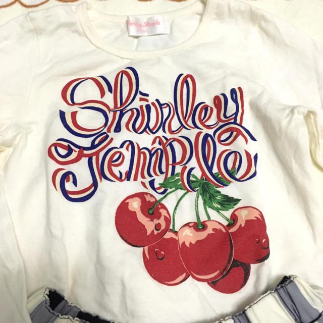 Shirley Temple(シャーリーテンプル)のチェリーギンガムチェックセットアップ110cmシャーリーテンプル  キッズ/ベビー/マタニティのキッズ服女の子用(90cm~)(Tシャツ/カットソー)の商品写真