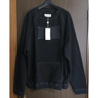 マルタンマルジェラ(Maison Martin Margiela)の黒48新品 メゾン マルジェラ Memory of スウェット シャツ ブラック(スウェット)