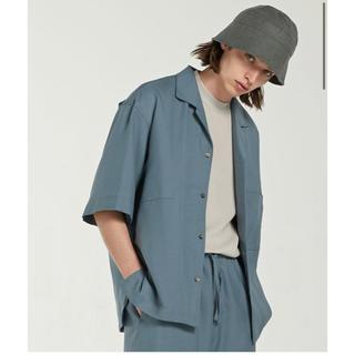 ハレ(HARE)のLIDNM キュプラリラックス オープンカラーシャツ M(シャツ)