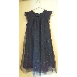 エイチアンドエム(H&M)の新品 H&M ネイビーワンピース 120 ドレス(ドレス/フォーマル)