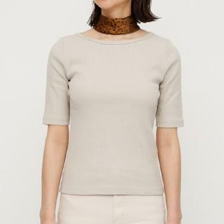 SLY - ■Ⅲスライ 未使用タグ付き WIDE NECK RIB Tシャツ