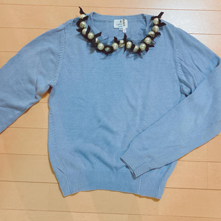 ランバンオンブルー(LANVIN en Bleu)のランバンオンブルー セーター ブルー(ニット/セーター)