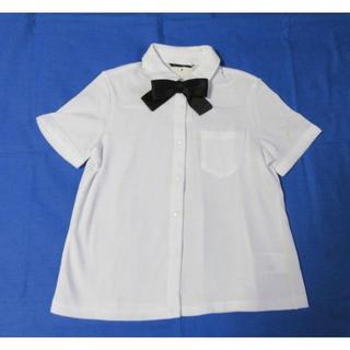 コムサイズム(COMME CA ISM)の新品★コムサイズム 黒リボン付き半袖ブラウス①140㎝(ブラウス)