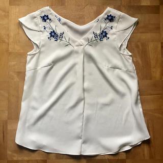 リランドチュール(Rirandture)のリランドチュール 刺繍 ブラウス 白(シャツ/ブラウス(半袖/袖なし))