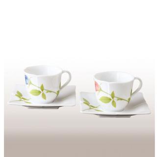 コウランシャ(香蘭社)のKORANSHA ペアコーヒーカップ&ソーサー(グラス/カップ)