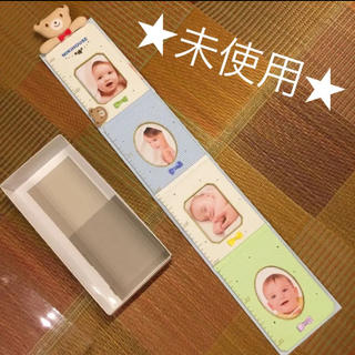 ミキハウス(mikihouse)のフォトフレーム付き身長計 ミキハウス【未使用】(フォトフレーム)