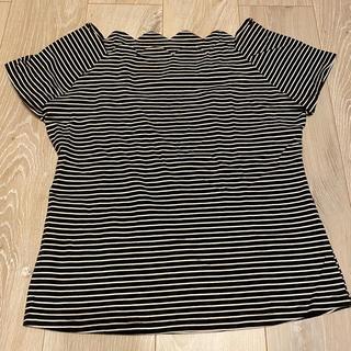 エフデ(ef-de)のef-de エフデ スカラップ ボーダー Tシャツ 半袖(Tシャツ(半袖/袖なし))