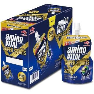 アジノモト(味の素)のアミノバイタル ゼリードリンク SUPER SPORTS 6個パック(アミノ酸)