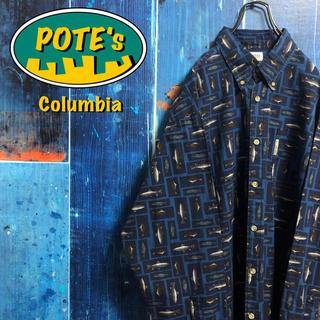 コロンビア(Columbia)の【コロンビア】フィッシュ柄ロゴタグ総柄フィッシングシャツ 90s(シャツ)
