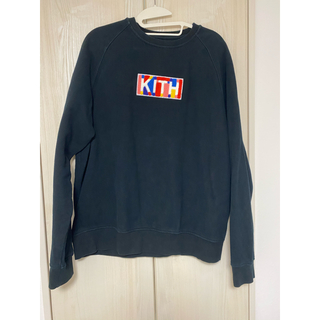 kith geo color crewneck black large (スウェット)