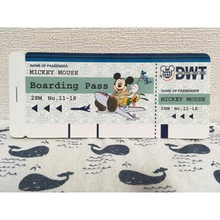 Disney - ディズニーストア メモ帳 航空券 チケット メモ レア