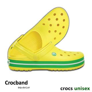 クロックス(crocs)の25cm クロックス クロックバンド レモン×グラスグリーン 新品(サンダル)