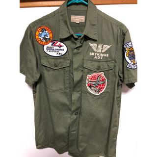 アヴィレックス(AVIREX)のAVIREX 半袖チームパッチシャツ(シャツ)