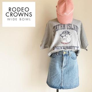 ロデオクラウンズワイドボウル(RODEO CROWNS WIDE BOWL)の『RCWB』スウェット Tシャツ Mサイズ(トレーナー/スウェット)