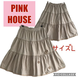 ピンクハウス(PINK HOUSE)のピンクハウス お花モチーフ付きスカート(ひざ丈スカート)