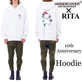 アンダーカバー(UNDERCOVER)のundercover × RITA アンダーカバー 限定 希少 パーカー 白(パーカー)