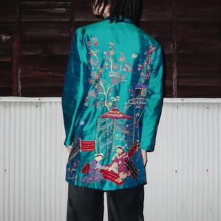 アメリヴィンテージ(Ameri VINTAGE)のEmbroidered silk shantung blouse(シャツ/ブラウス(長袖/七分))